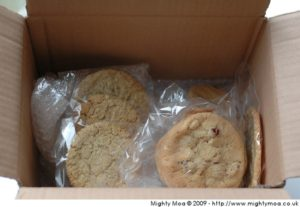 Sample box of cookies